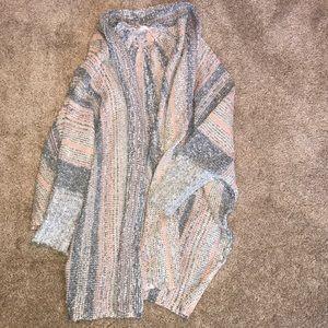 Multicolor Sweater knit cardigan